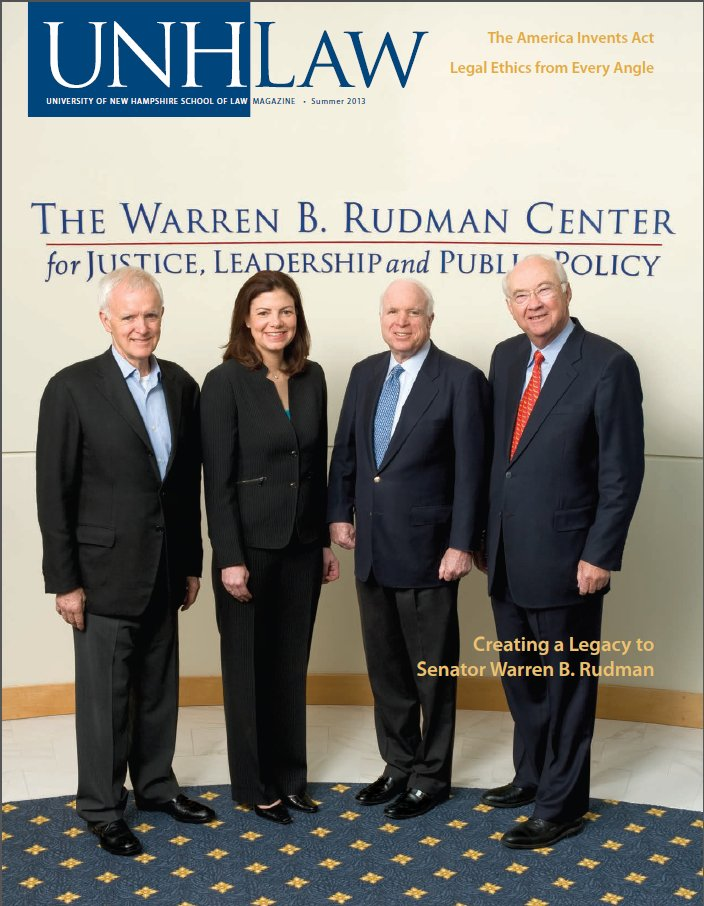 UNH Law Alumni Magazines Index - IP Accomplishments Focus - Summer 2013