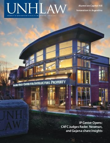 UNH Law Alumni Magazines Index - IP Accomplishments Focus - Winter 2012