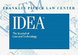 IDEA ® The Journal of the Franklin Pierce Center for Intellectual Property.