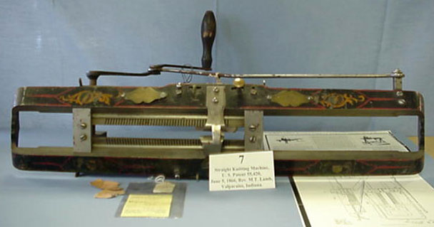 User Guide Series: Homer and Jean Blair Collection of United States Patent Models Straight Knitting Machine