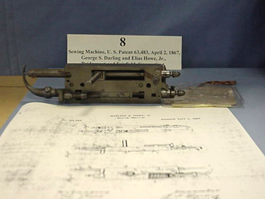 User Guide Series: Homer and Jean Blair Collection of United States Patent Models Sewing Machine